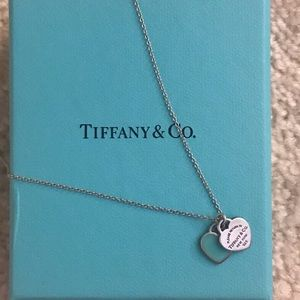 Return To Tiffany Mini Double Heart Tag Pendant